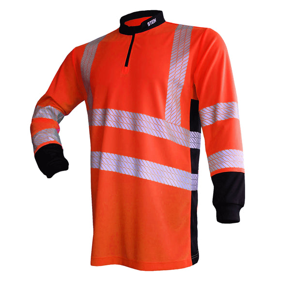 STEIN X25 VENTOUT Hi-Viz T-Shirt Long Sleeve Orange
