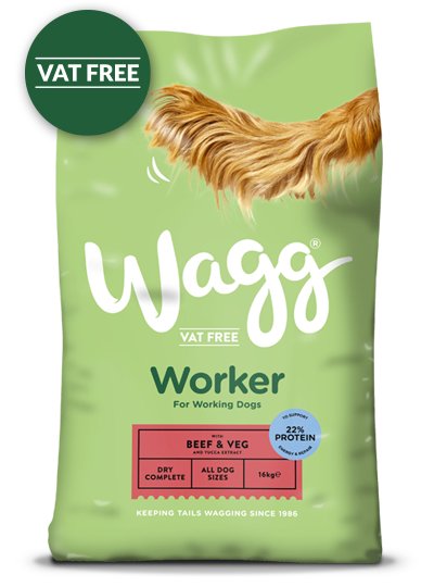 Wagg Worker with Beef, Veg & Yucca Extract Dog Food 16kg