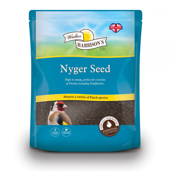 Walter Harrison's Nyger Seed Bird Feed Pouch 2kg