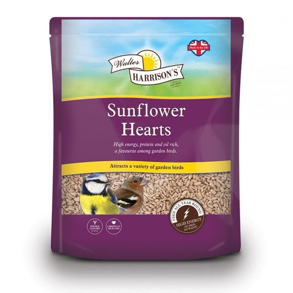 Walter Harrison's Sunflower Hearts Bird Feed Pouch 4kg