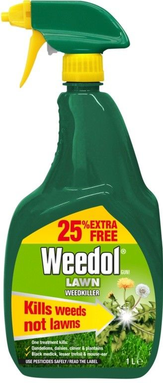 Weedol Lawn WeedKiller Spray Gun Ready to Use 1L