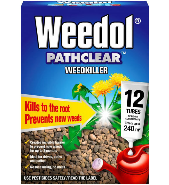 Weedol Pathclear Weedkiller Liquid Concentrate 12 Tubes