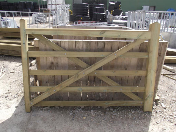 Wood Field Gate C2 5' 5 Bar