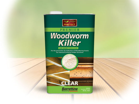 Barrettine Premier Woodworm Killer 5L