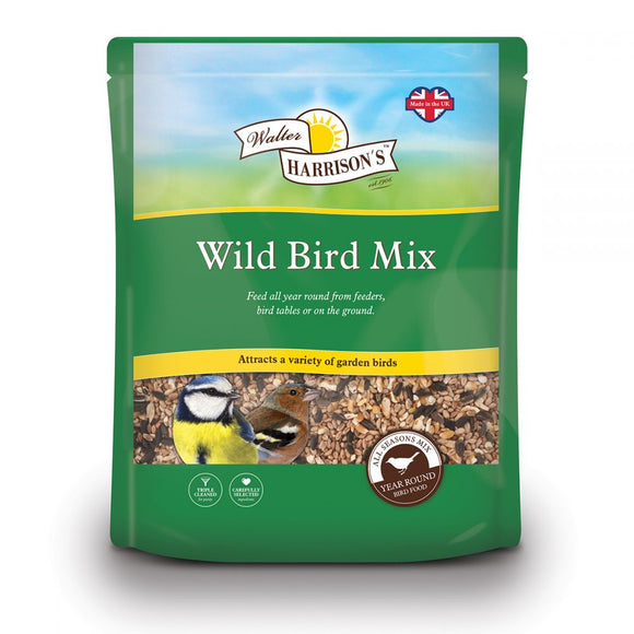 Walter Harrison's Wild Bird Mix Bird Feed Pouch 4kg