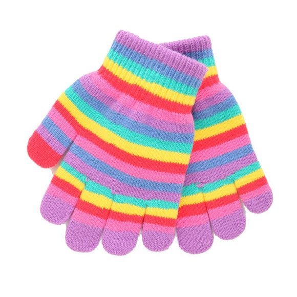 SSP Girls Stripey Magic Gloves