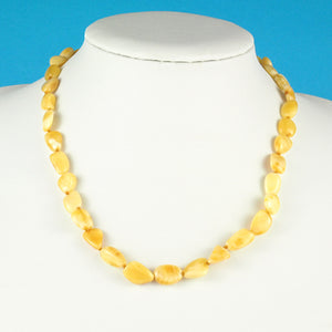 Attractive And Unique Natural White Amber Necklace