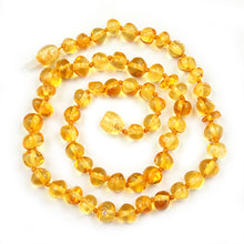 Load image into Gallery viewer, Amber Necklace 17 inch - Lemon 6 mm Baroque Beads