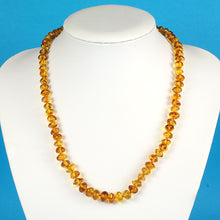 Load image into Gallery viewer, Amber Necklace 20 inch - Honey 7-8 mm Baroque Beads