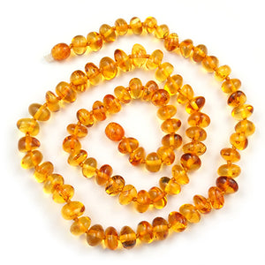 Amber Necklace 20 inch - Honey 7-8 mm Baroque Beads