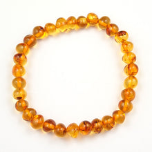 Load image into Gallery viewer, Adult Bracelet or Baby Anklet Honey Amber on Elastic