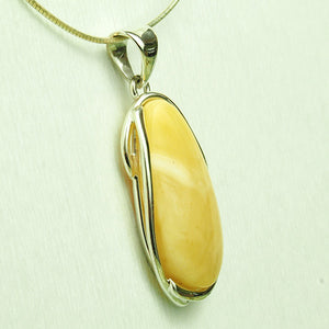 Natural Baltic Amber Pendant in Silver - 10 grams