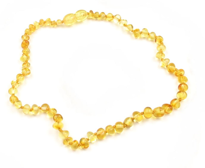Baby Teething Necklace Lemon Bulky Baroque Beads