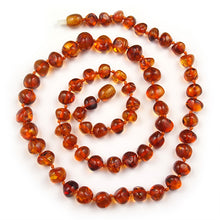 Load image into Gallery viewer, Amber Necklace 21.5 inch - Cognac 7-9 mm Baroque Beads