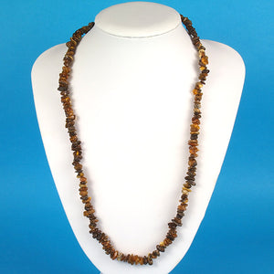 Health Necklace 26 inch Green Baltic Amber Chips