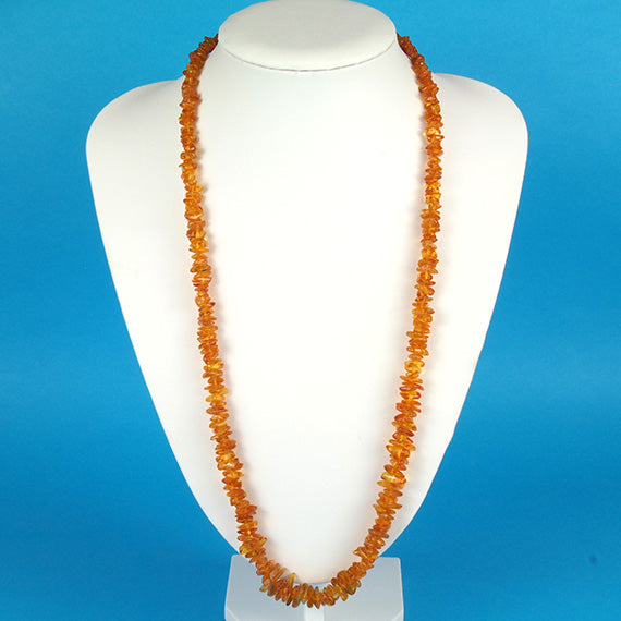 Health Necklace 27 inch Honey Baltic Amber Chips