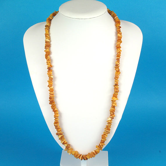 Health Necklace 27 inch Raw Butterscotch Baltic Amber Chips