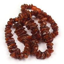 Load image into Gallery viewer, Health Necklace 27 inch Cognac Baltic Amber Chips