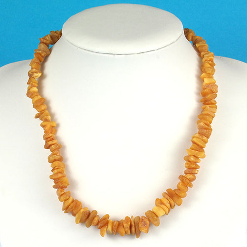 Health Necklace 18 inch Raw Butterscotch Baltic Amber Chips