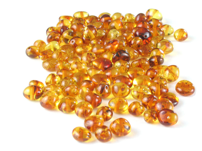 Baltic Amber Beads Baroque 6-8 mm Honey 10 grams