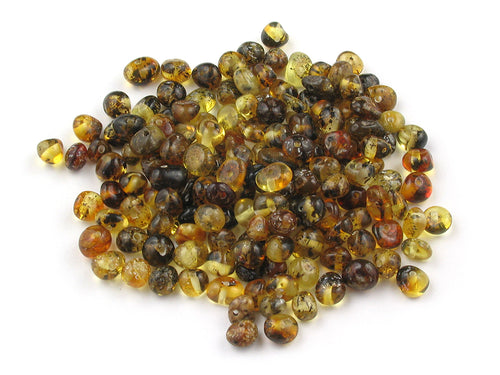 Baltic Amber Beads Random Shaped 4-6 mm Green 10 grams