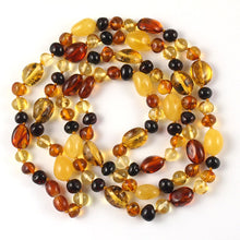 Load image into Gallery viewer, Amber Necklace 36 inch - Multicolor Beads