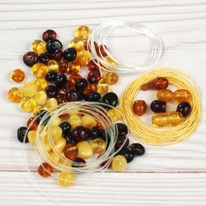 Baltic Amber Beads Starter Kit for Jewelry