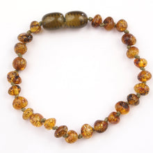 Load image into Gallery viewer, Baby Bracelet Green Baltic Amber