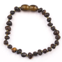 Load image into Gallery viewer, Baby Bracelet Cognac Baltic Amber