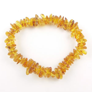 Health Bracelet - Honey Natural Amber Chip Bracelet