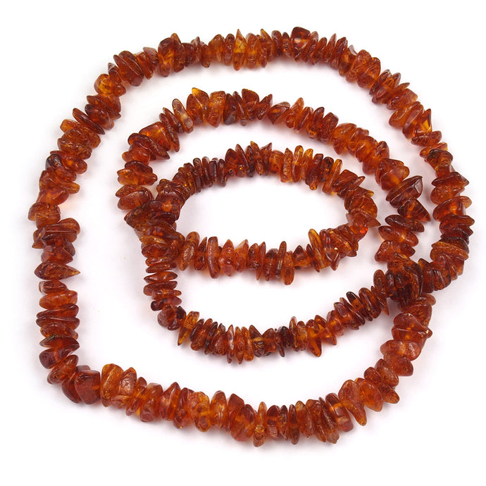 Health Necklace 27 inch Cognac Baltic Amber Chips