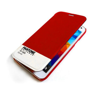 Housse Folio pour Mobile Pantone Universe Galaxy S5 Bordeaux | leadershopping.fr