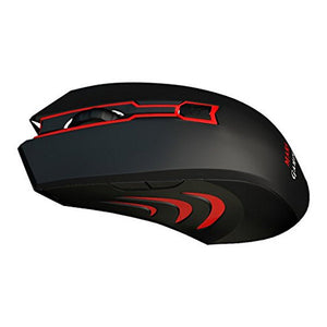 Souris Gaming avec LED Mars Gaming Mars MAM0 2800 dpi Noir Rouge | leadershopping.fr