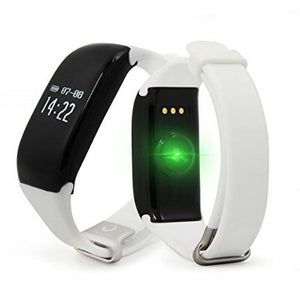 "Bracelet d'activités BRIGMTON BSPORT-14-B OLED 0.66"" Bluetooth 4.0 IP67 Android /iOS 26 g Blanc 