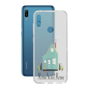 Protection pour téléphone portable Huawei Y6 2019 Contact Flex Home TPU | leadershopping.fr