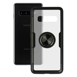 Coque avec Anneau Galaxy S10 KSIX 360 Ring Transparent | leadershopping.fr