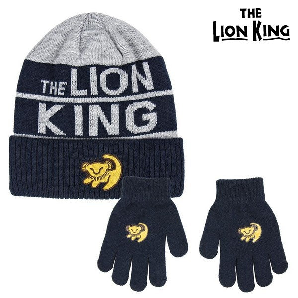 Bonnet et gants The Lion King 74324 Gris (2 Pcs)