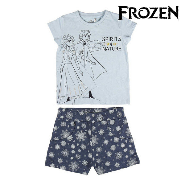 Ensemble de Vêtements Frozen Bleu (2 Pcs)