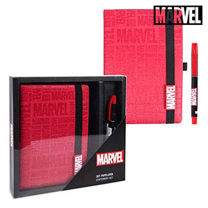 Ensemble de Papeterie Marvel Rouge (2 pcs)