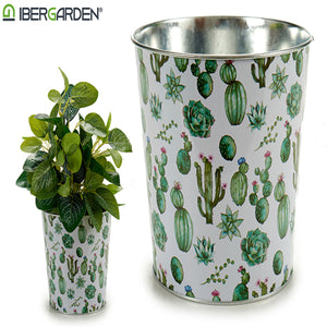 Cache-pot Métal Cactus (17,5 x 16,5 x 17,5 cm) Grand Rond | leadershopping.fr