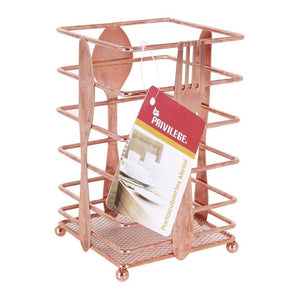 Range-couverts Copper Privilege Métal (10,3 x 10,3 x 16 cm) | leadershopping.fr