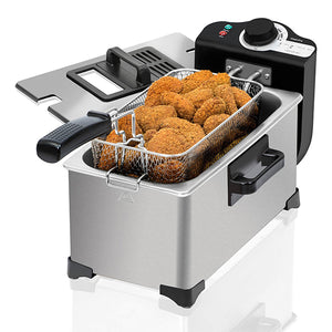 Friteuse Cecotec Cleanfry 3L 2000W Acier inoxydable | leadershopping.fr