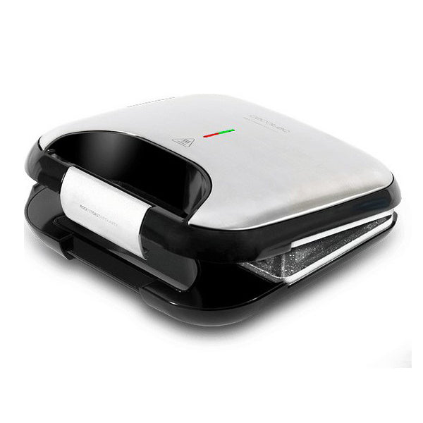 Machine à sandwich Cecotec Rock'nToast Fifty-Fifty 750W Acier inoxydable