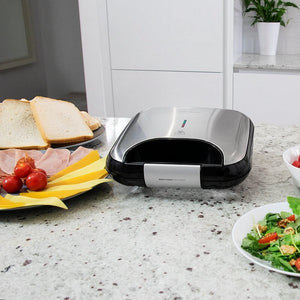 Machine à sandwich Cecotec Rock'nToast Fifty-Fifty 750W Acier inoxydable | leadershopping.fr