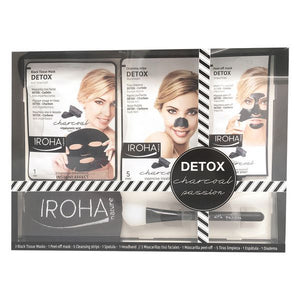 Set de Cosmétiques Femme Detox Charcoal Black Passion Iroha (7 pcs) | leadershopping.fr