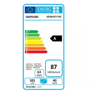 "TV intelligente Samsung UE40NU7115 40"" 4K Ultra HD LED WIFI Noir"
