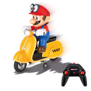 Motocyclette Scooter R/c Carrera Super Mario Odyssey 2,4 GHz