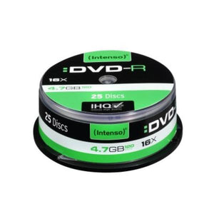 DVD-R INTENSO 4101154 16x 4.7 GB 25 pcs | leadershopping.fr
