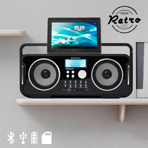 Radio Vintage Bluetooth Rechargeable AudioSonic RD1556 | leadershopping.fr