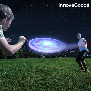 Frisbee avec LED Multicolore InnovaGoods | leadershopping.fr